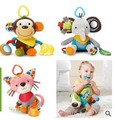2016 new arrive 19cm best quality Baby Kids Cartoon baby bed bell Animal Plush Baby Rattles & Mobiles, Car/bed/crib Hanging Bell