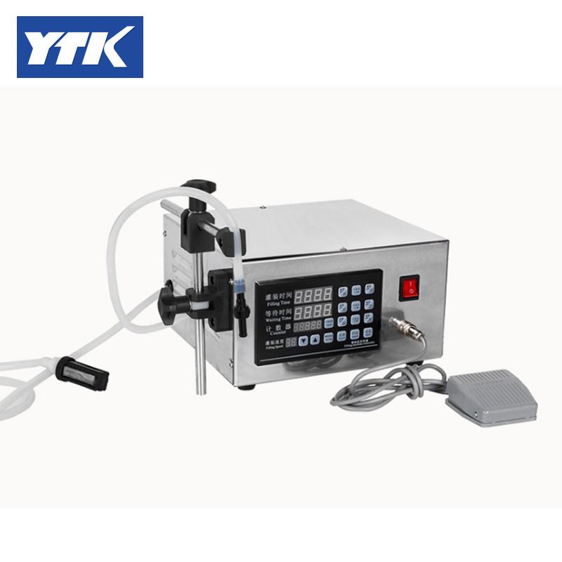 YTK 3-3000ml Water Softdrink Liquid Filling Machine Digital Control