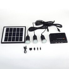 Solar Powered 3 LED Lights Bulbs Outdoor Camping Lighting Lamp Easy Install Plug& Play With Switch Control