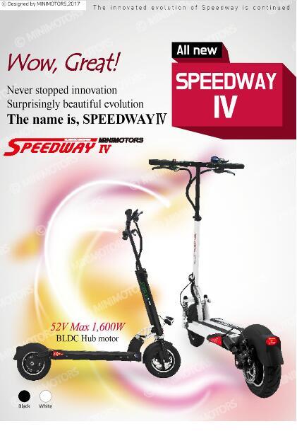 Prix pour Speedway S4 Électrique Scooter talent conception 52 V 1600 W 26A Meilleure vitesse 50 km/h