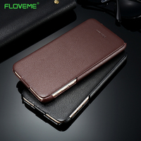 FLOVEME Luxury Leather Case For IPhone 7 Plus Vertical Flip Litchi Pattern Protective Cover For Apple