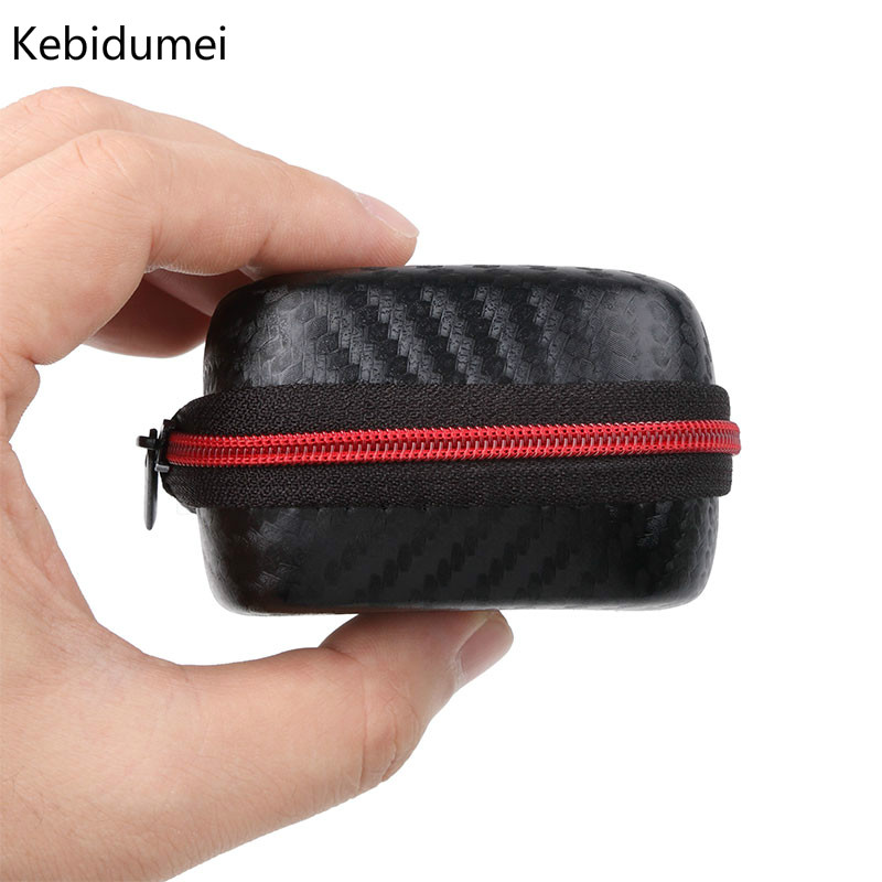 Kebidumei Earphone Bag Storage Portable Storage Case Headphone SD Card Bag Box Earphone Accessories