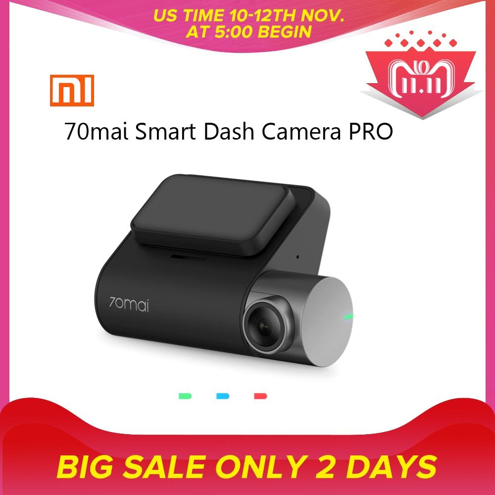 лучшая цена Xiaomi 70mai Smart Dash Cam Pro English Version 1944P HD Car DVR Camera IMX335 140 Degree FOV Night Version Voice Control Defog