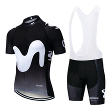 2019 TEAM Big M Black Cycling Clothing Bike jersey Ropa Quick Dry Mens Bicycle summer pro Cycling Jerseys 9D gel pad bike shorts