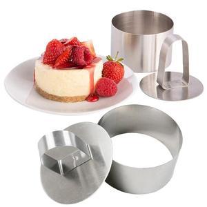 Image 5 - Molde para hornear ensalada, herramientas para hornear manualidades, molde para magdalenas, ensalada, postre, Mousse, anillo, pastel, queso, herramienta de acero inoxidable