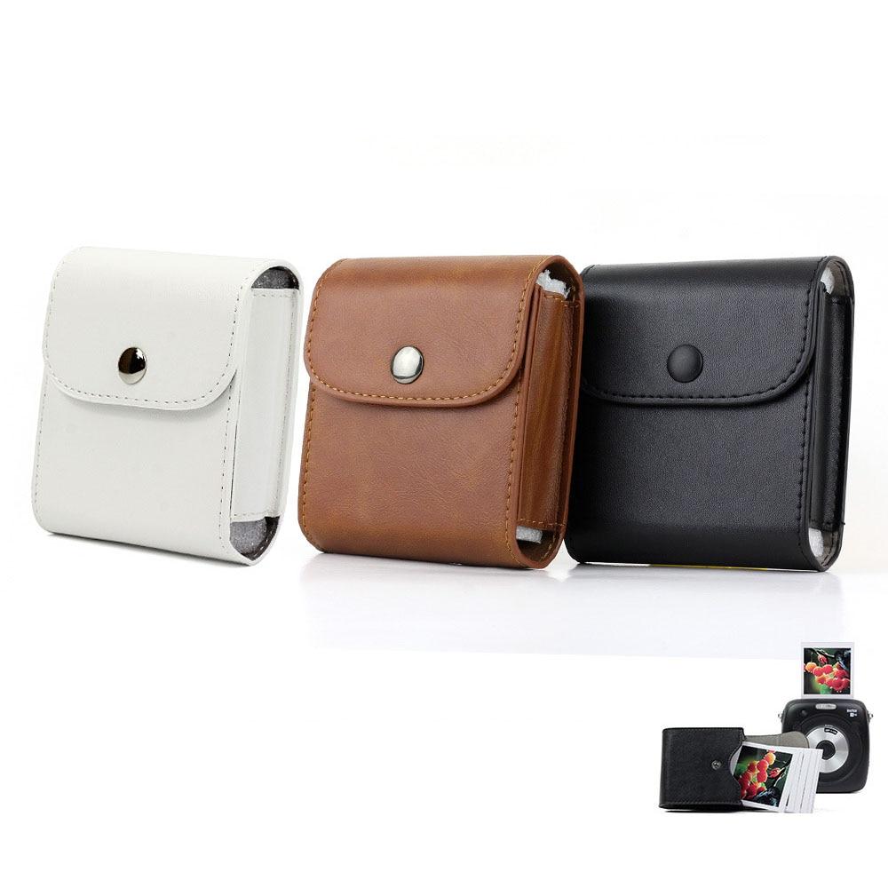 FUJIFILM Instax SQUARE Film Bag Vintage PU Leather SQ10 Camera Accessory Case Photo Paper Pouch
