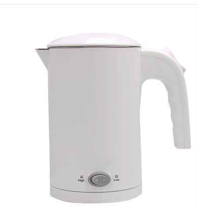Electric kettle wide voltage multilayer anti-ironing stainless steel travel boiled soup water cup Overheat Protection hot insulated double layer proof electric kettle anti dumping stainless steel kettles overheat protection