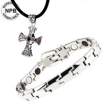 Anti Fatigue Noproblem Q043 Hot Selling Tourmaline Energy Magnetic Power Vintage Cuff Charm Fashion Infinity Bracelet