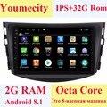 Youmecity Новинка!! Android 8,1 Автомобильный dvd плеер для Toyota RAV4 для Toyota Previa Rav 4 2007 2008 2009 2010 2011 2 din 1024*600 автомобильный dvd, gps, Wi-Fi, rds