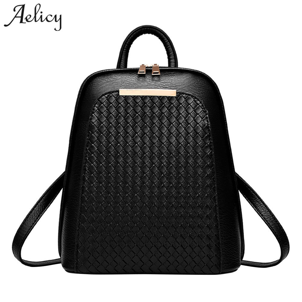 Aelicy Luxury Women Backpack New Tide Female Women Laptop Backpacks Large Capacity Pu Leather School Bags Teenager Girls