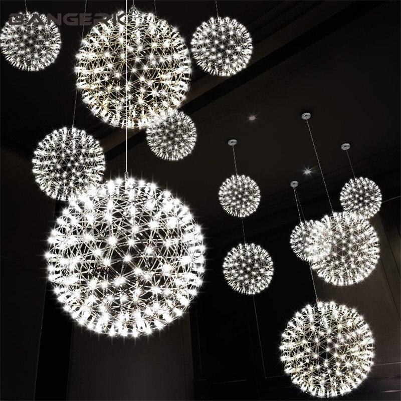 Pendentif LED moderne Simple allume la lampe pendante créative de sphère d'étincelle d'éclairage pour des appareils d'éclairage de salle à manger de décor à la maison