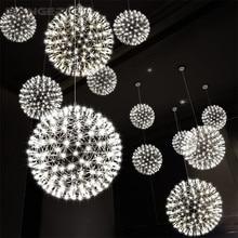 Simple Modern LED Pendant Lights Creative Spark Sphere Hanging Lamp Pendant Lighting For Home Decor Dining Room Light Fixtures