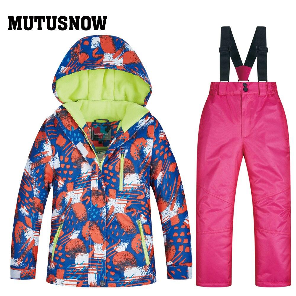 Garçons filles enfants enfants Ski Costume imperméable veste de Ski pantalon de neige thermique garçon fille hiver extérieur à capuche vêtements Costume ensemble