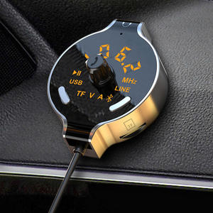MP3 Player Aux-Cable Fm-Transmitter Car Bluetooth Wireless Car-Kit Battery Voltage-Display
