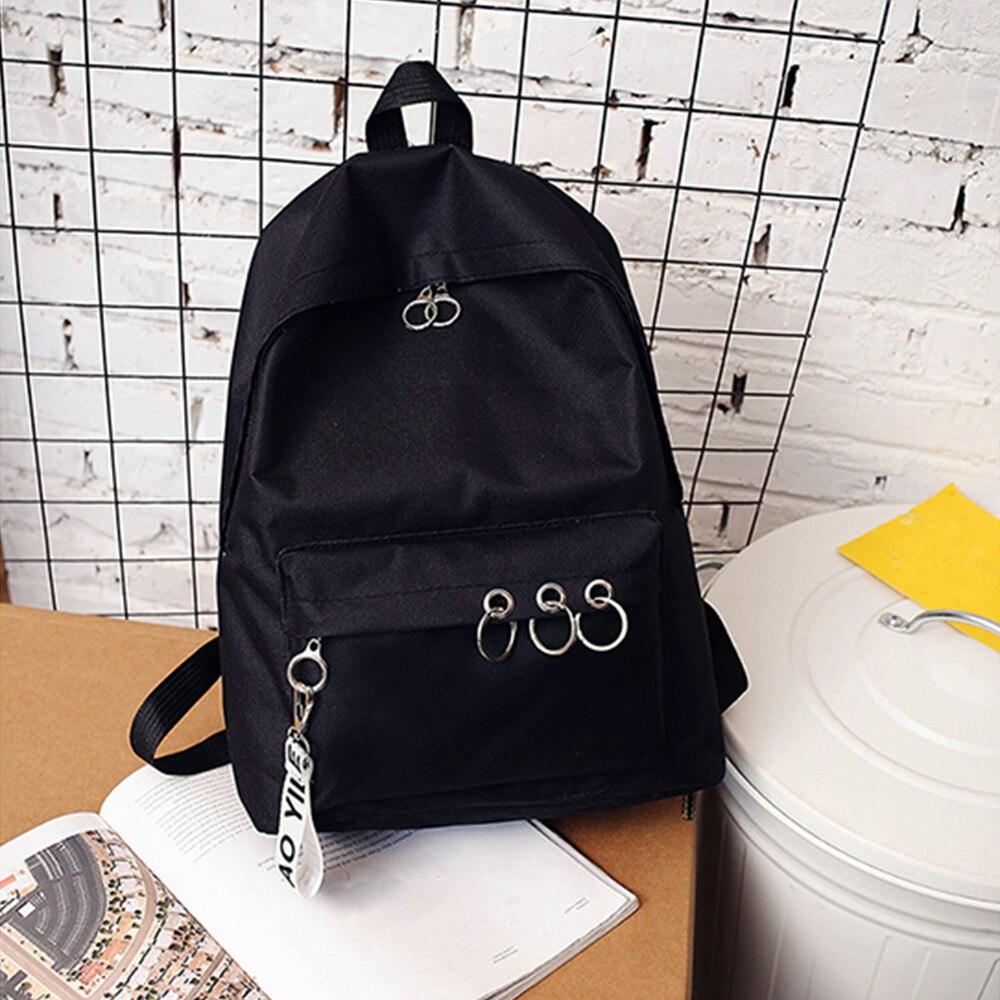 2019 moda feminina lona mochila escolar para