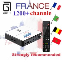 GT2017 GOTiT French 4K UHD IPTV Box Android DVB S2 Satellite Combo Smart TV Box With