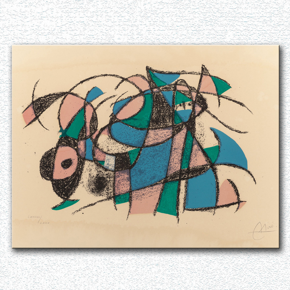 Huge Printing Oil Painting Wall painting Lithographe IV, 1972 by Joan Miro Wall Art Picture For Living Room painting