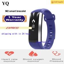 เดิมM2สมาร์ทวงนหัวใจความดันโลหิตออกซิเจนOximeterกีฬาสร้อยข้อมือนาฬิกานาฬิกาInteligente P UlsoสำหรับiOS A Ndroidผู้ชาย