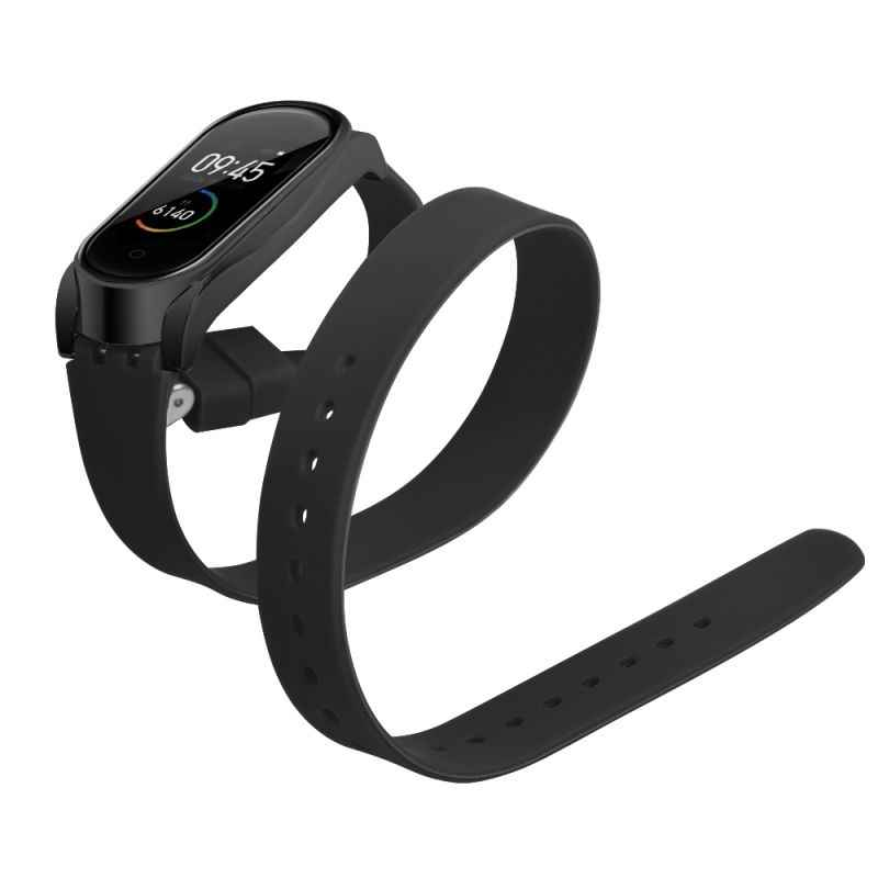 Silicone Strap For Xiaomi Mi Band 4 Long Strap Double Wrap For My Band 4 Buckle Metal Shell For Smart Accessories My Band3