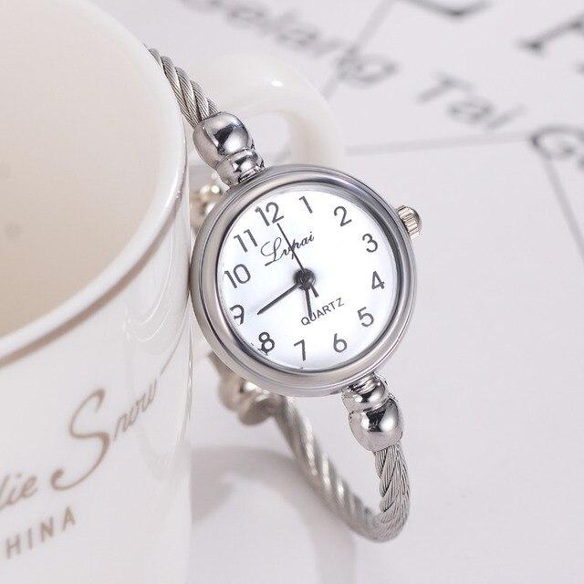 Fashion Women Bracelet Watch Luxury Top Brand Stainless Steel Silver Ladies Wris