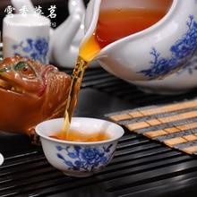 Kung fu tea set the whole kettle set of blue and white porcelain ceramic teapot solid wood tea tray tea ceremony