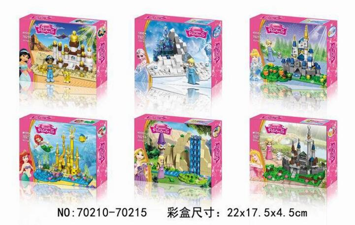 Decool 70210-70215 Friends Series Princess Mermaid/Aladdin lamp/Cinderella Building Block Bricks Compatible With LEPIN original aladdin and the magic lamp action figures toy aladdin jasmine princess model doll