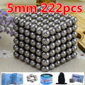 5mm 216pcs Neo Cube Magic Buck yballs Puzzle Magnetic Balls with metal box Balls Spacer Beads neodymium spheres beads NdFeB