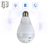 2.0MP 360 Degree WIFI Mini Camera Wireless Camera IP Camera Wi-Fi Bulb Lamp Fisheye Panoramic Surveillance Security Camera CCTV