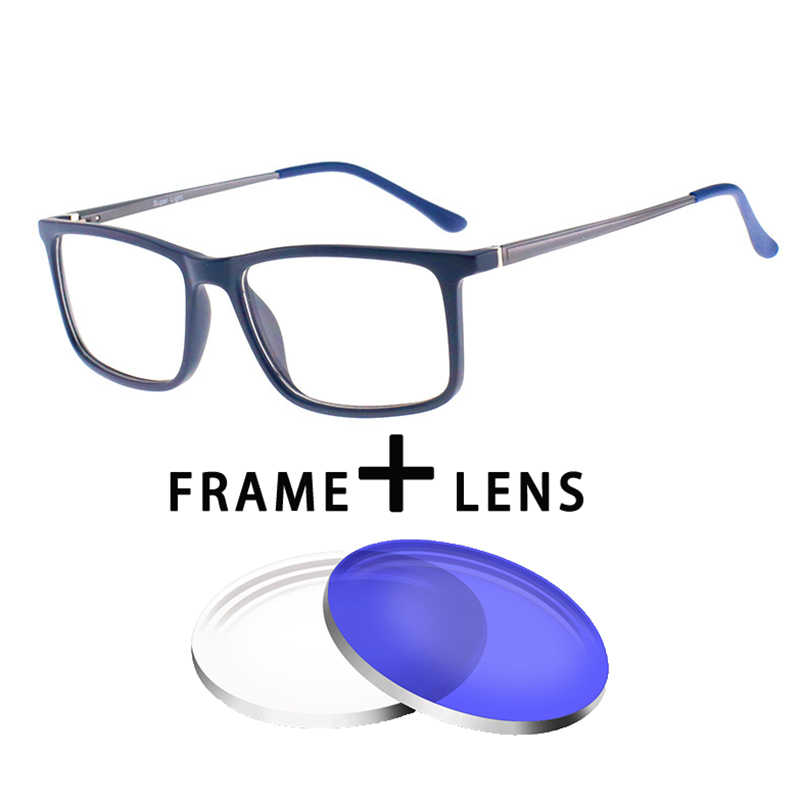 e5e8378244 New Fashion Optical Glasses Square Anti blue light Oculos Myopia Multifocal progressive  Prescription Lens Men Frame