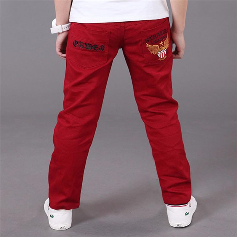 HTB1aDFcPXXXXXXnXVXXq6xXFXXXJ - boys pants kids jeans 2018 casual Spring Solid Cotton Mid Elastic Waist Pants for Boy jeans kids Clothing Children Trousers p023