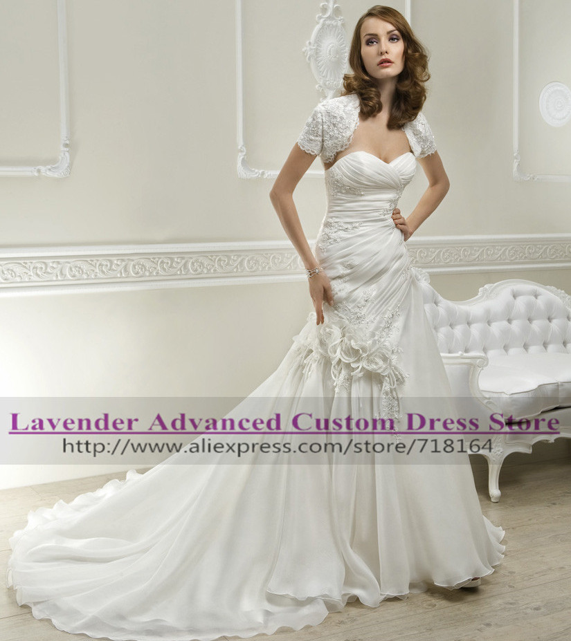 Discount Plus Size Colored Country Wedding Dresses Long: 2017 Women Fashion Mermaid Boda Wedding Dress Long Tail