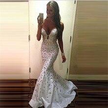 Abendkleider Ballkleider Lange 2016 Luxus Kristalle Abendkleider Meerjungfrau Elegante Prom Party Kleider