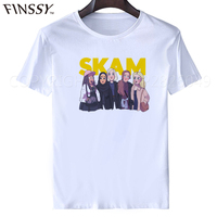 2017 T Shirt Men Fashion Cool Skam T Shirt White Hip Pop Funny T Shirt Summer