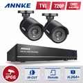 SANNCE 4CH 720P DVR CCTV system 2pcs 720P 1.0MP CCTV Security camera IR cut Outdoor home Surveillance video Kits night vision