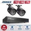 Sannce 4ch 720 p dvr cctv sistema 2 unids 720 p 1.0mp cctv Kits de corte Outdoor home Vigilancia seguridad cámara de INFRARROJOS cámara de vídeo noche visión
