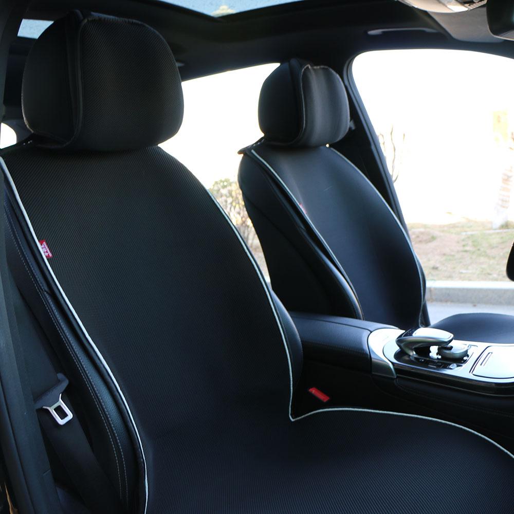 Housse de siège de voiture d'été 2 pièces/coussin respirant sandwich/protection de cape de voiture SUV/protection de cape de voiture à cinq places