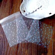 100 pces bolinhas fosco saco de plástico branco azul rosa auto adesivo cookies claro celofane doces sacos festa presentes de casamento saco