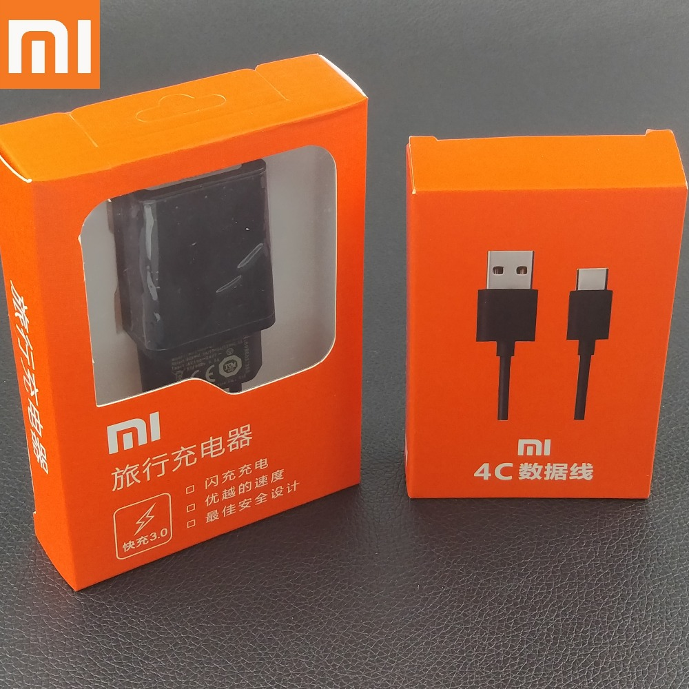 Original XiaoMi mi mix 2 Charger Quick Fast QC3.0 12V1.5A EU Wall Charge Adapter and Usb Type C Cable for XiaoMi mi 5 5s 4c 4s