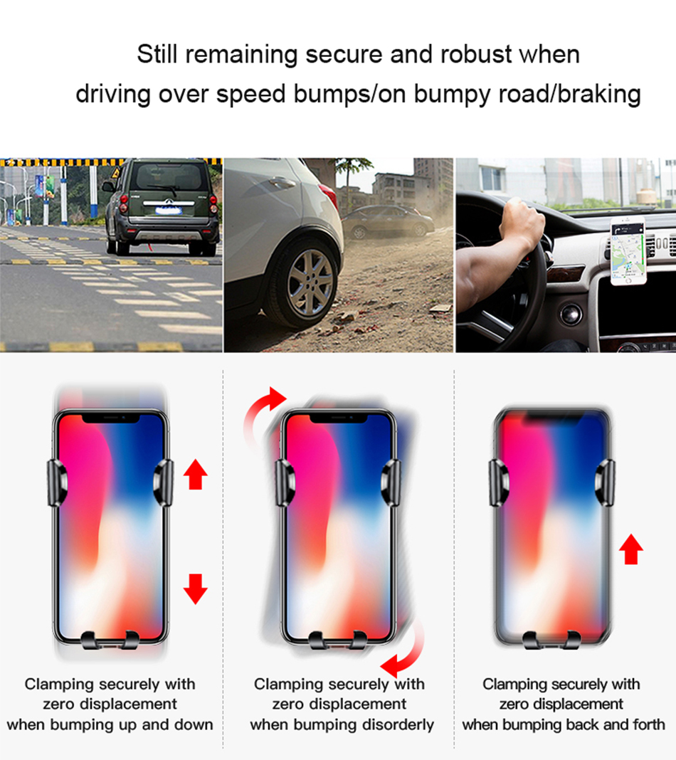 Baseus Wireless Car Charger For iPhone Xs Max Xr X 8 Samsung Note 9 Qi Wireless Charger Fast Wirless Charging Car Phone Holder 21