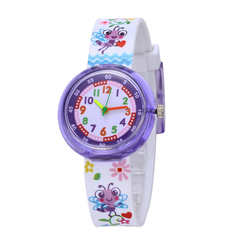 11 Designs Christmas Gift Cute Bee Girl Watch Children Fashion Watch SportS Jelly Cartoon New Boy Watch
