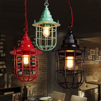 Loft Style Iron Droplight Edison Industrial Vintage LED Pendant Light Fixtures Dining Room Hanging Lamp Indoor Lighting simple loft style iron droplight industrial edison vintage pendant lamp dining room bar hanging light fixtures indoor lighting