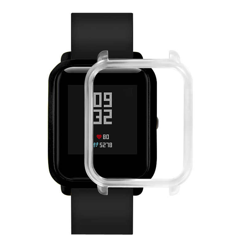 Funda protectora y Protector de pantalla para Huami Amazfit Bip Younth reloj funda de Marco colorida delgada carcasa protectora JFlyer