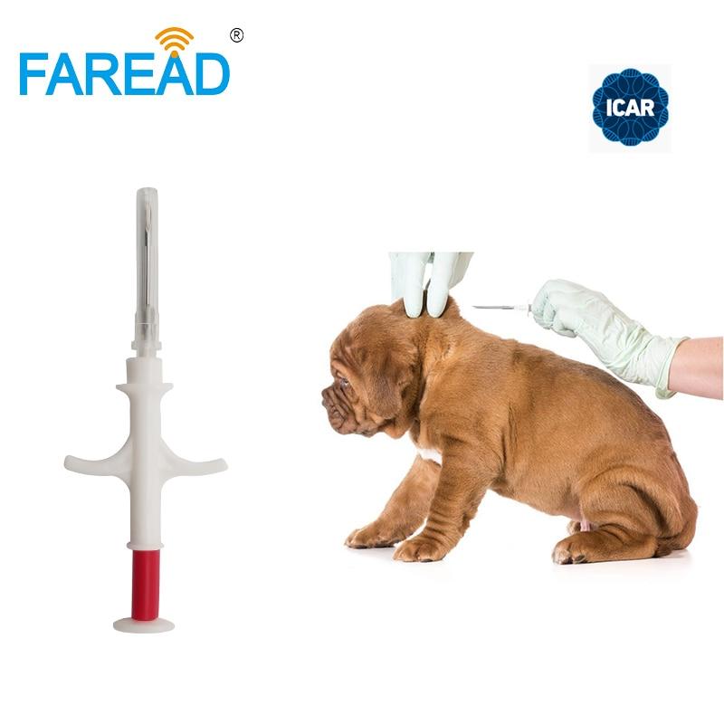 1.4x8mm/2.12x12mm FDX-B ISO11784/5 RFID Implant Chip Syringe Animal Microchip For Pets Dog Cat Fish Farm Horse Veterinary Clinic