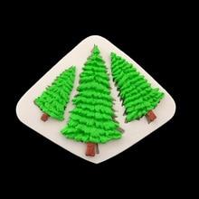 Christmas Tree DIY Cake Border Silicone Mold Fondant Cake Decorating Tools Candy Cupcake Chocolate Gumpaste Baking Moulds