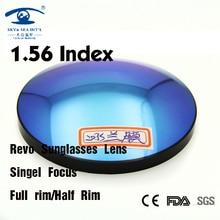 1.56 Индекс Мода Revo Цветные Линзы для Глаз Солнцезащитные Очки Линзы Оптические Линзы Revo Синий Зеленый Очковые Линзы
