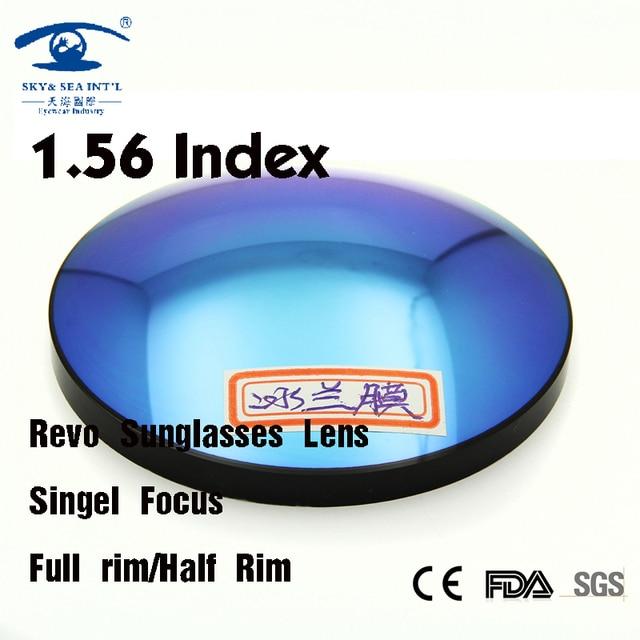 1.56 Index Fashion Revo Colored Lens for Eye Sunglasses Lenses Optical Lens Revo Blue Green Eyeglass Lenses