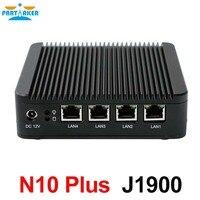 Причастником N10 плюс домашний сервер mini pc 4 ядерный процессор J1900 CPU 4 intel lan межсетевой vpn маршрутизатор с поддержкой linux pfsense OS и 3G/4G