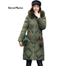 Cheap wholesale Women winter coat 2017 women warm outwear Down Cotton Jacket coat Womens Clothing High Quality  TA1048