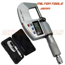 0-25 мм 0,001 мм IP65 Водонепроницаемый цифровой микрометр с фокусным расстоянием 25 мм снаружи микрометрический суппорт толщиномер Электронный микрометр