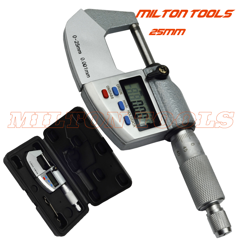 0 25mm 0.001mm IP65 Waterproof Digital Micrometer 25mm outside micrometer Caliper thickness gauge Electronic micrometer-in Micrometers from Tools    1